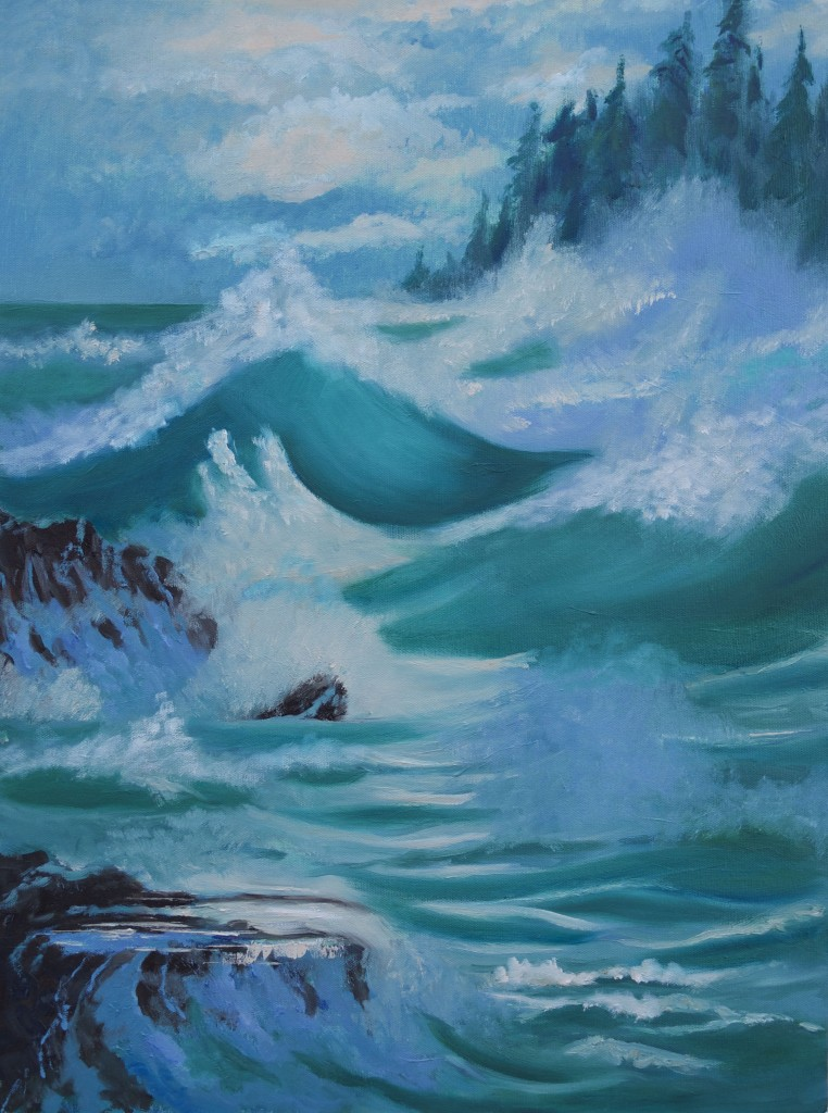Storm Ocean Waves Beach
