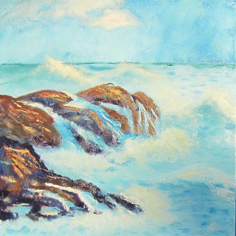ocean waves shoreline