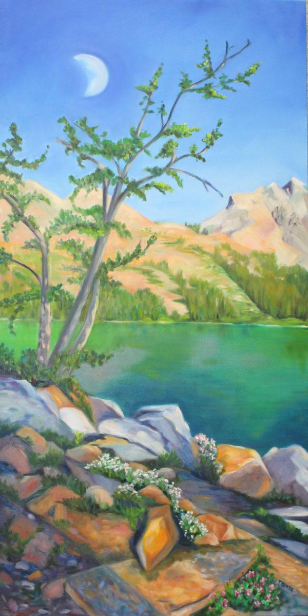 Green Lakes Moon Rise - Eastern Sierras