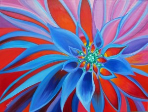 harmony color flower oil painting