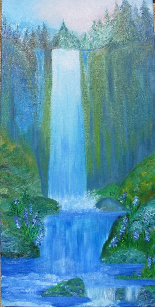 high sierra waterfall