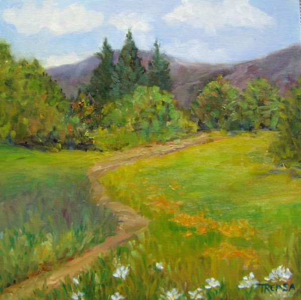 plein air mountain view